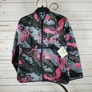 Sacred Threads Quilted Reversible Mandarin Jacket